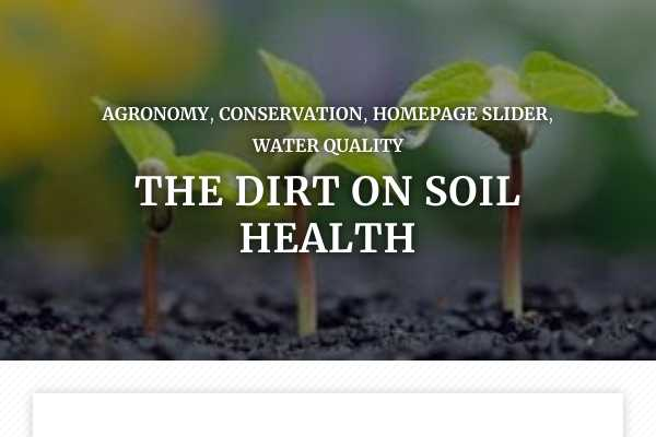 The dirt on soil health