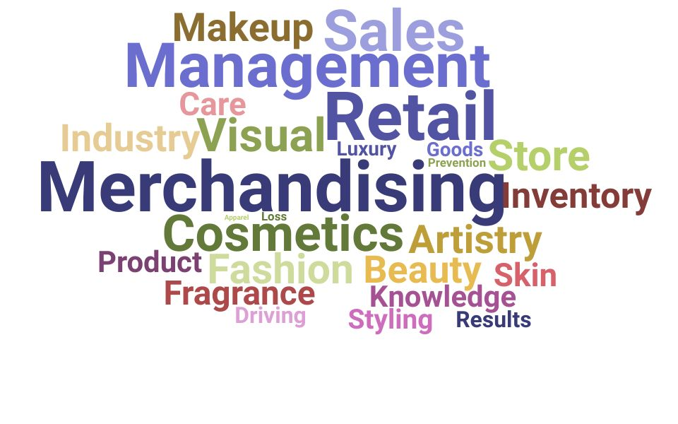 Top Cosmetics Manager Skills and Keywords to Include On Your Resume