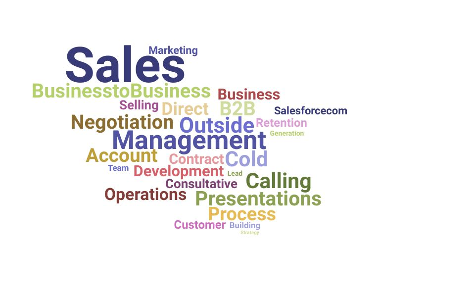 Top Outside Sales Consultant Skills and Keywords to Include On Your Resume