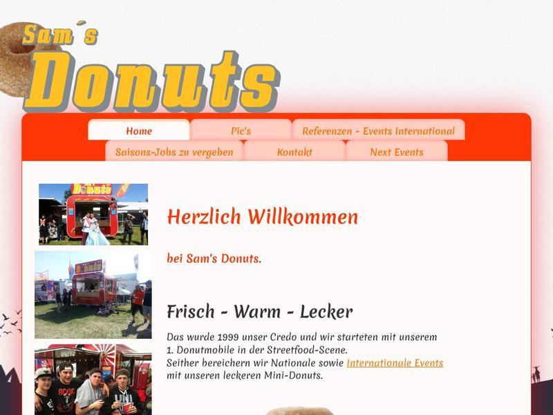 Sam's Donuts Website